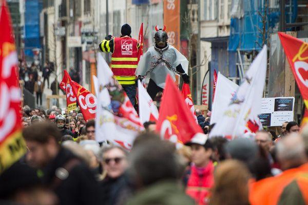 Manifestation contre la réforme des retraites, à Marseille.