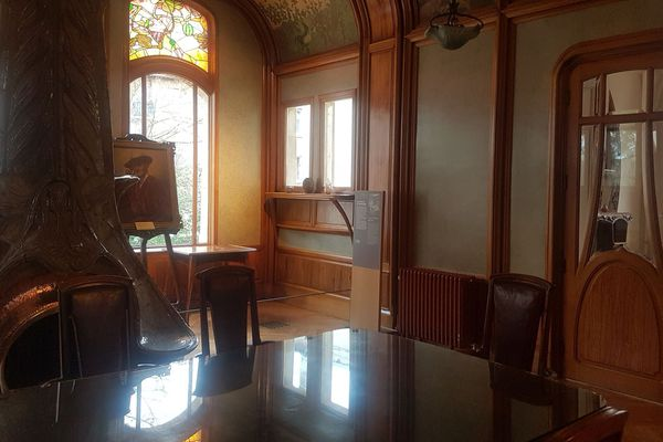 La salle à manger de la Villa Majorelle à  Nancy, après la restauration du bâtiment.