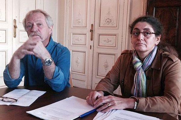 Montpellier - José Bové et son avocate - 10 novembre 2015.