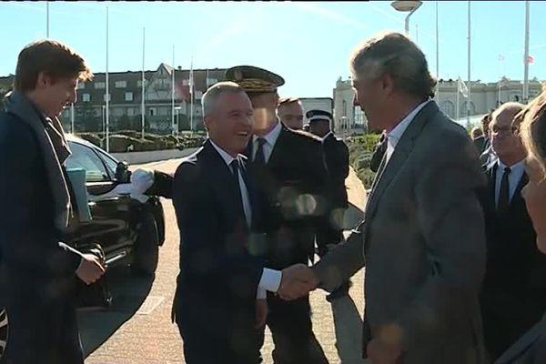 Le ministre de l'écologie François de Rugy en visite à Deauville ce vendredi 5 octobre à la convention de l'assemblée des communautés de France.