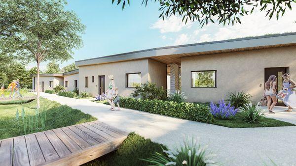 Implanté au cœur de l'écoquartier Rema'vert à Reims, sur une parcelle de 1000 m2, cinq maisons de plain-pied, réalisées en impression 3D et éléments préfabriqués verront le jour en 2022.