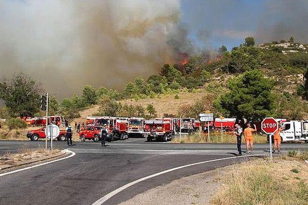 Cébazan (Hérault) - un incendie détruit un peu moins de 100 hectares - 7 septembre 2016.