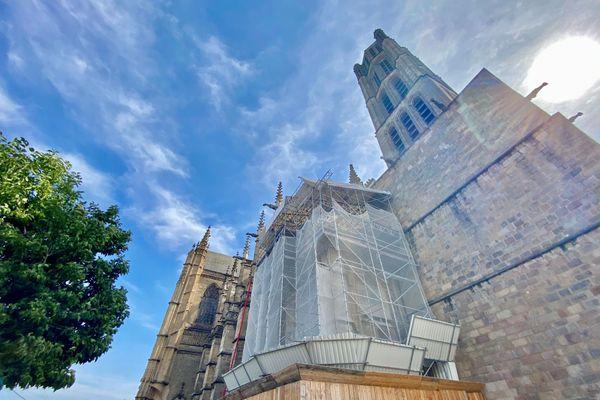 Un million d'euros du plan de relance de l'Etat va être consacré à la mise aux normes des réseaux et de l'éclairage au sein de la cathédrale Saint-Etienne de Limoges d'ici 2022.