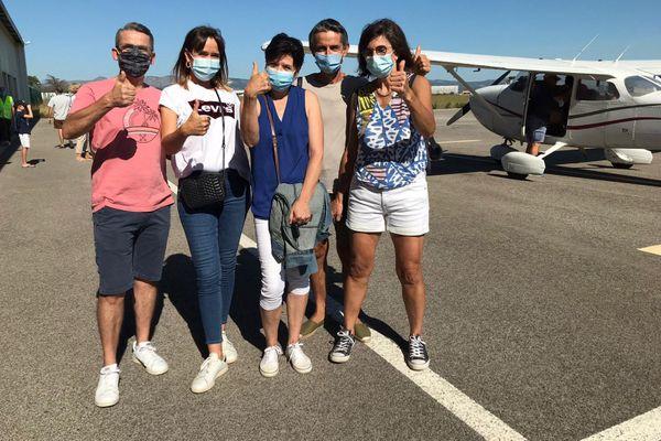 Le personnel hospitalier de Perpignan a survolé en avion la côte vermeille - 13 septembre 2020