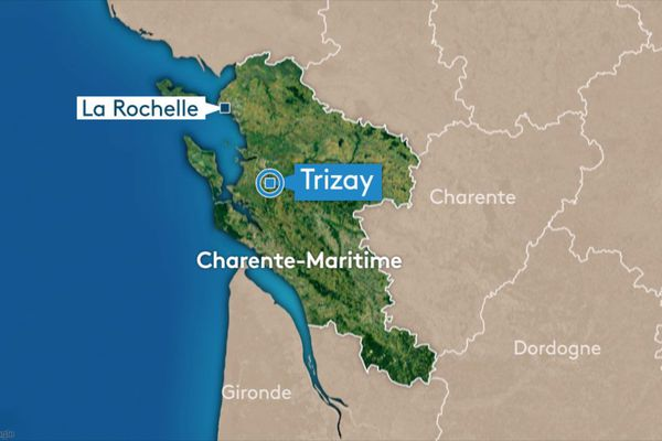 Accident à Trizay sur la route départementale D238 direction Beurlay