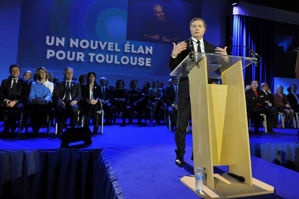 Jean-Luc Moudenc lors de son meeting