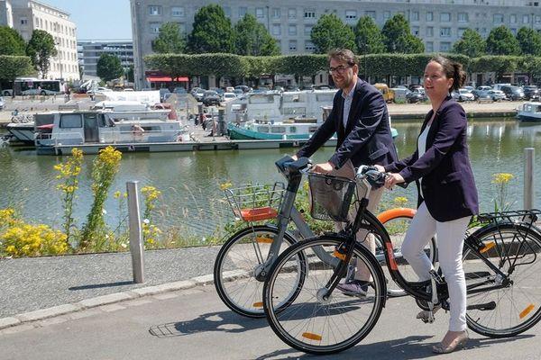Johanna Rolland, maire de Nantes et Jean-Charles Decaux