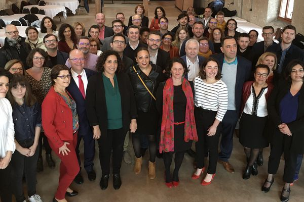 Johanna Rolland, maire socialiste de Nantes, présente sa liste pour les élection municipales de 2020.