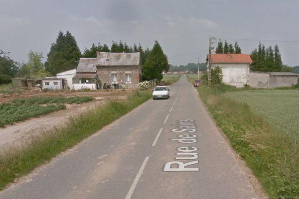 L'accident s'est produit rue de Sains.