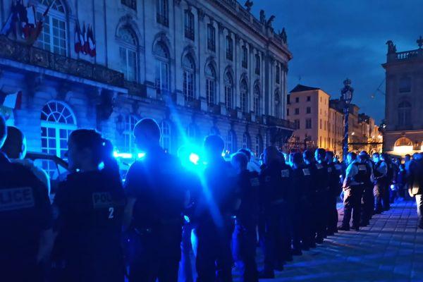 Rassemblement des policiers nancéiens, place Stanislace, ce jeudi 11 juin 2020