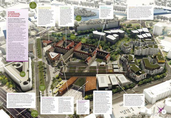 Le plan de la Cité de la Gastronomie, sur le site de l'ancien hôpital général à Dijon
