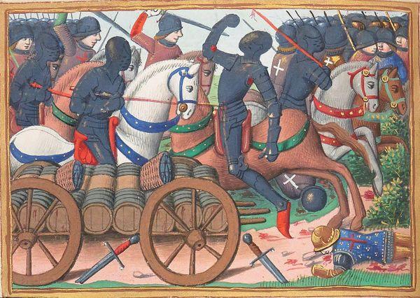 Face à l'échec de l'assaut franco-écossais à Rouvray, les Britanniques contre-attaquent, mettant leurs adversaires en déroute
