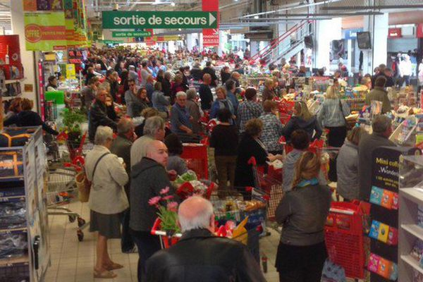 A Auchan Saint-Martin Boulogne, ce jeudi matin.