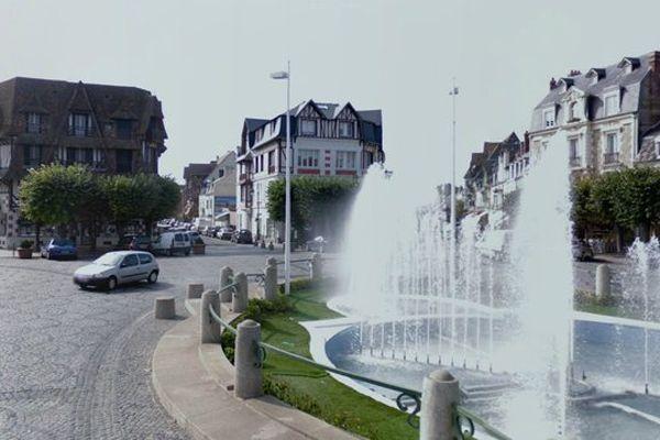 La place Morny, en plein centre de Deauville