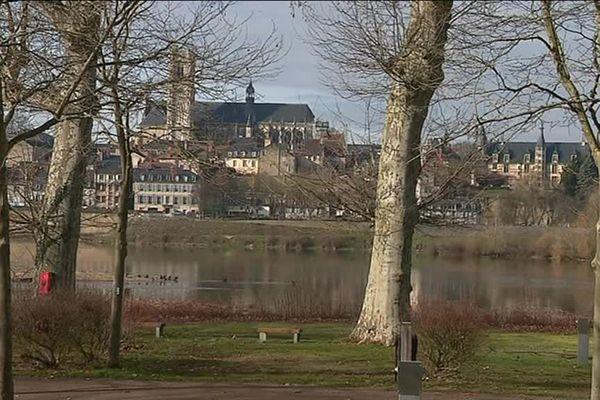 Le long des digues de la Loire à Nevers, 104 arbres vont disparaître.