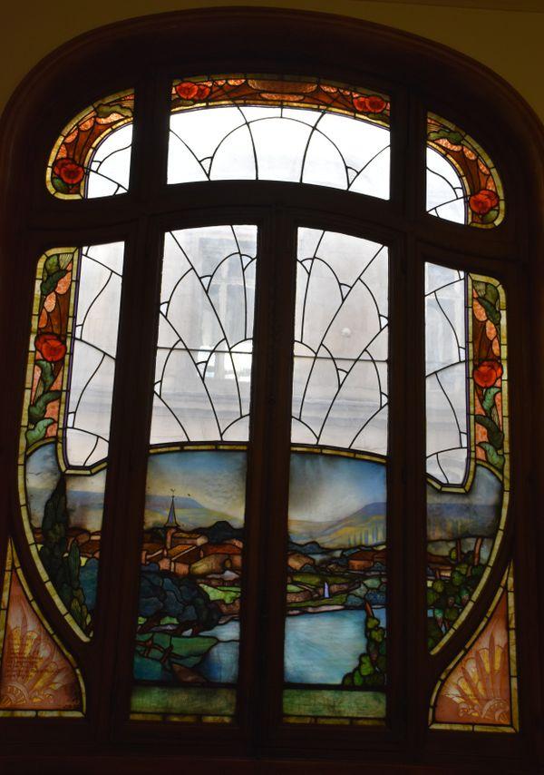 Le vitrail Gruber Village Lorrain