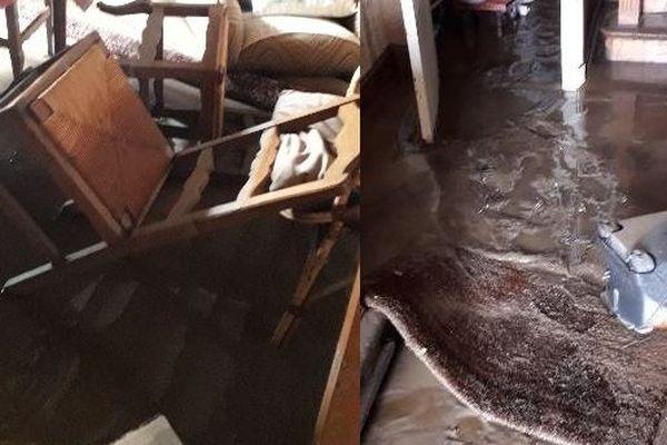 Dans une autre maison du Hameau, l'eau et la boue se sont introduites dans toutes les pièces du rez-de-chaussée