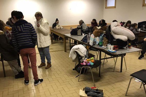 34 personnes sont hébergées dans un gymnase à Limoux dans l'Aude suite aux intempéries causées par la tempête Gloria le 22 janvier 2020.