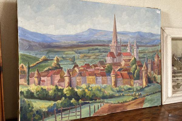 De nombreux tableaux représentent la région autunoise.