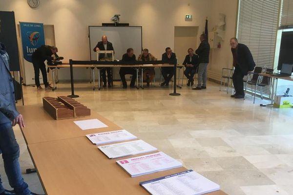 Lunel (Hérault) - un bureau de vote - 15 mars 2020.