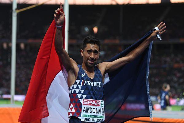 ILLUSTRATION - Morhad Amdouni, vainqueur des championnats d'Europe du 10.000 mètres en 2018.