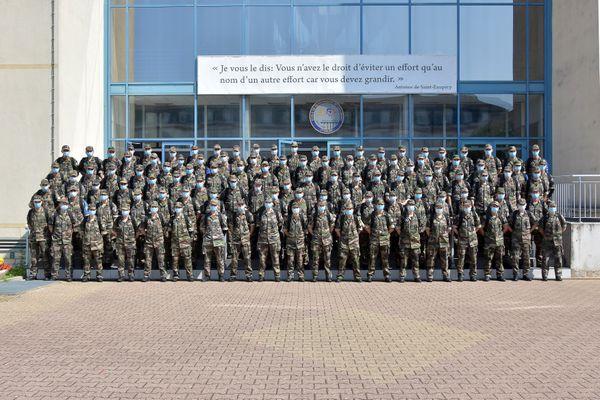 La 509e promotion de l'école de gendarmerie de Chaumont comprend 112 jeunes élèves.