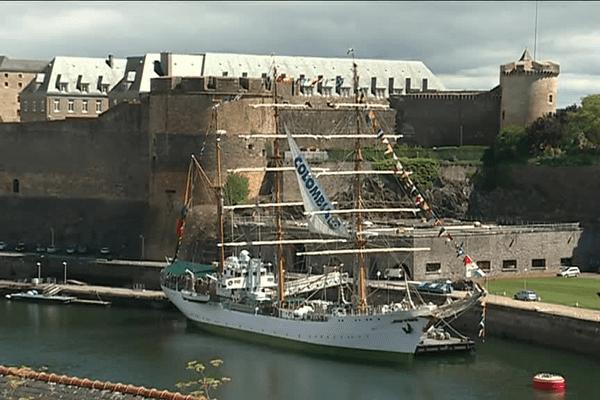 Le navire école colombien est en escale à Brest pour 3 jours