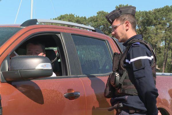 300 gendarmes sont mobilisés en 40 points de contrôles dans tout le département des Landes.