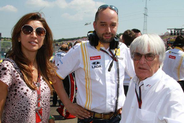 Gérard Lopez avec Bernie Ecclestone, le grand patron de la F1, en 2010.