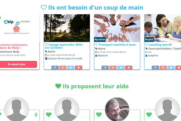 Page d'accueil du site welp.fr.