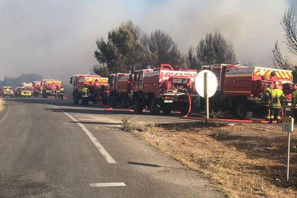 60 véhicules et 250 pompiers ont été engagés