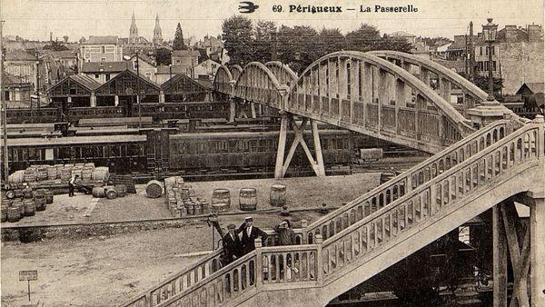La gare aux alentours de 1920.
