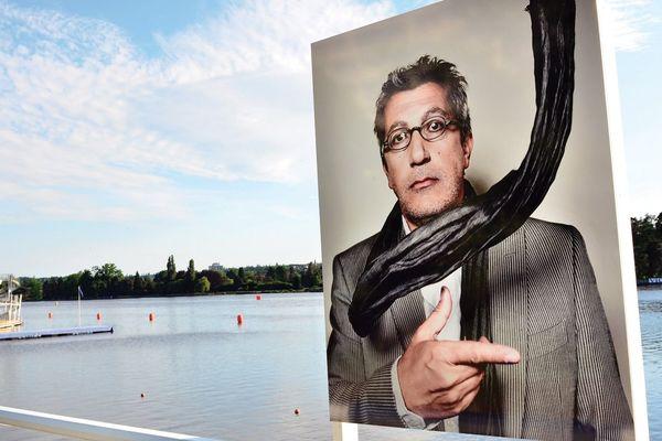 Alain Chabat par Jérôme Bonnet. Portrait(s), une exposition sur l'Esplanade du Lac d'Allier à Vichy