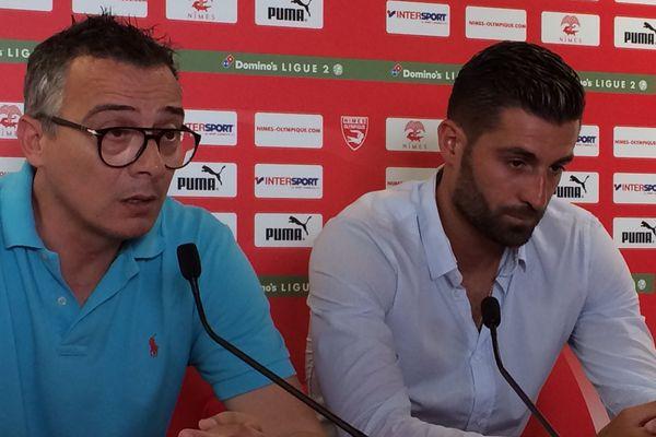 Pierrick Valdivia, 29 ans a signé au Nîmes Olympique en tant que milieu de terrain, jusqu'en juin 2020 - 13 juin 2017