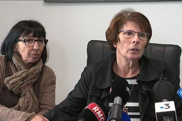 Pour Conception Gonzalez, à droite sur la photo,  l'imminente confrontation avec Jacques Rançon , l'assassin de sa fille, Marie Hélène, tué en juin 1998 et dont le corps a été atrocement mutilée, s'annonce très difficile
