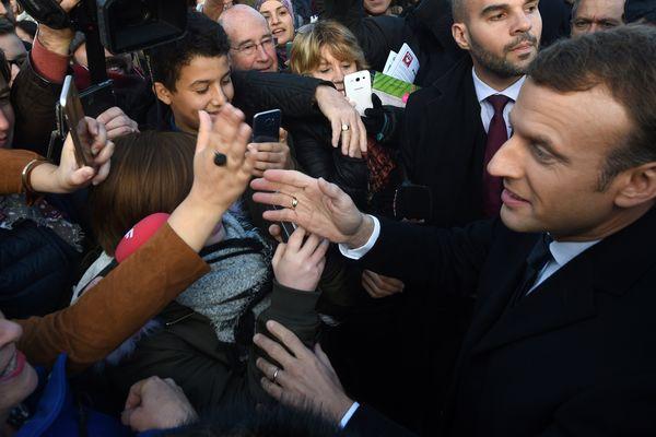Emmanuel Macron, à Tourcoing, ce 14 novembre 2017.