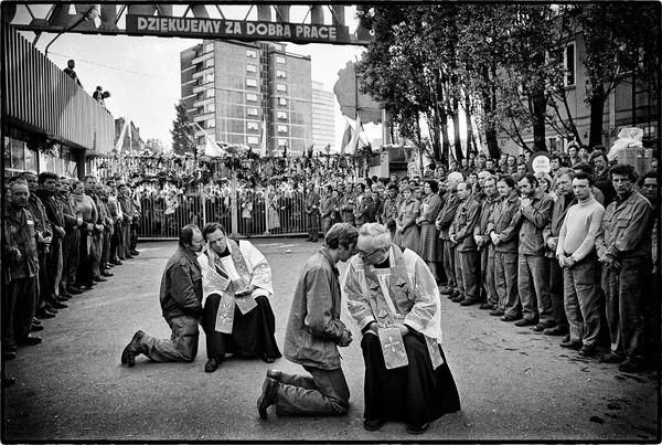 Confession publique. Chantiers navals Lénine, Gdansk, Pologne, 23 août 1980.