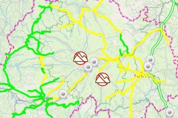 Jeudi 27 février, la circulation est parfois délicate sur les routes du Cantal.