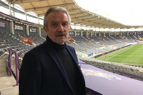 Frédéric Thiriez, candidat à la présidence de la F.F.F, au Stadium de Toulouse