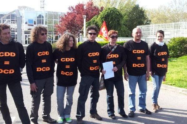 Montpellier - La manifestation des CDD devant France 3 Languedoc-Roussillon - 15 avril 2013.
