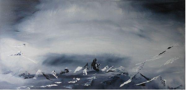 Marie Raynaud, Imagine, 2020. Huile sur toile, 40 x 80 cm. ©Tous droits réservés.
