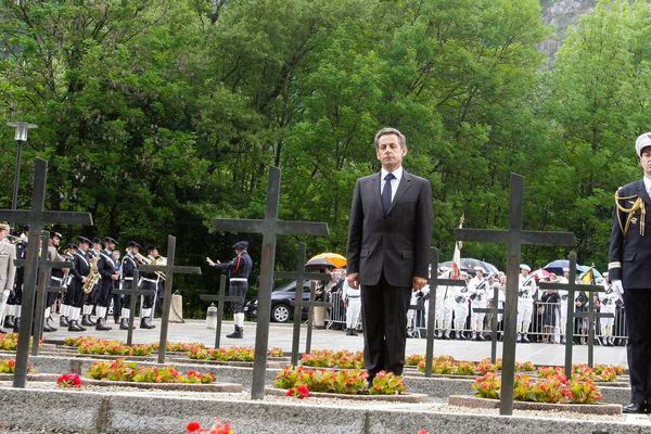 Nicolas Sarkozy participait régulièrement aux hommages sur le plateau des Glières lorsqu'il était président.