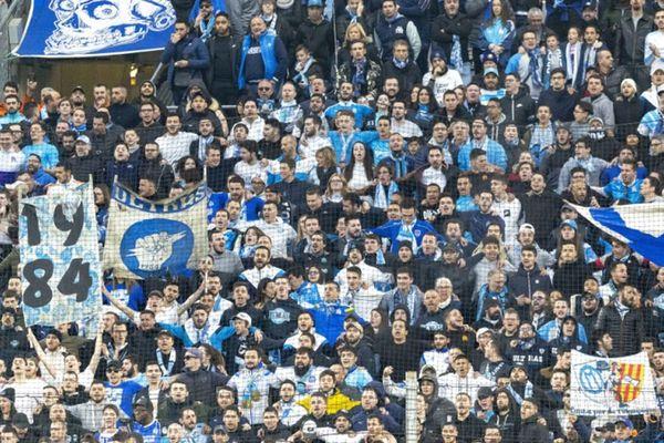 Les supporters du Vélodrome lors de la rencontre OM-Toulouse