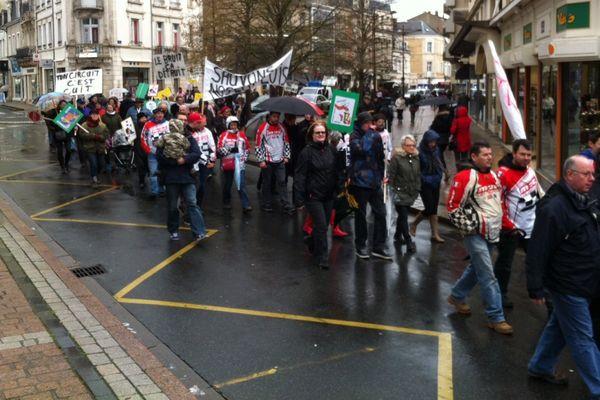 Manifestation contre l'extension du circuit de Tourneix (36)