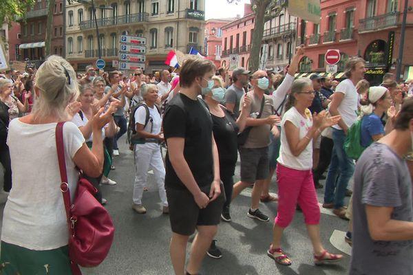 3 000 personnes dans les rues de Toulouses ce samedi 24 juillet.