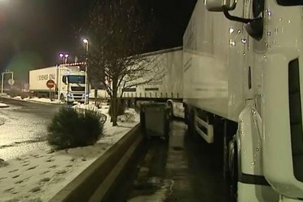 Les camions ont été stockés à Séverac le Château dans l'Aveyron