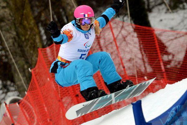 Cécile Hernandez, la Catalane, médaille d'argent aux jeux paralympiques de Sotchi (Russie) en 2014.