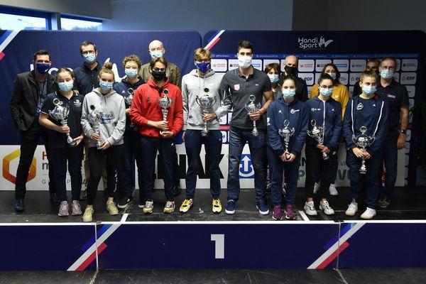 Lauréats du championnat de France de natation handisport  2020 à Angers