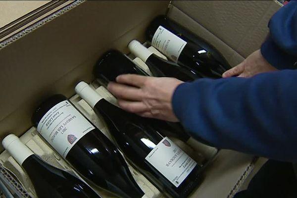 Commande de vins pour les Etats-Unis