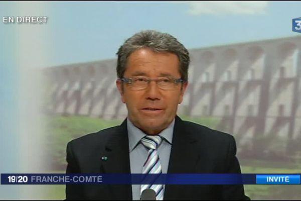 Jacky Favret, président de l'union régionale des communes forestières